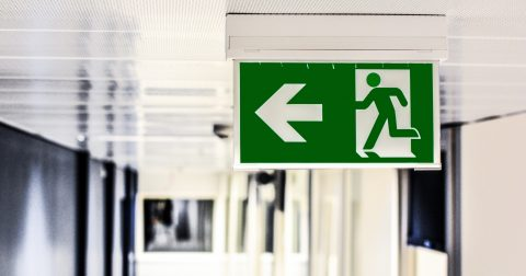 staff retention - exit sign
