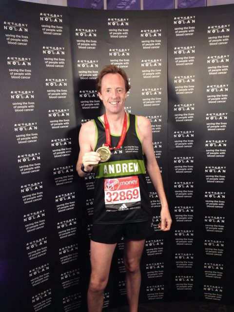 Image of Andrew Potter after marathon