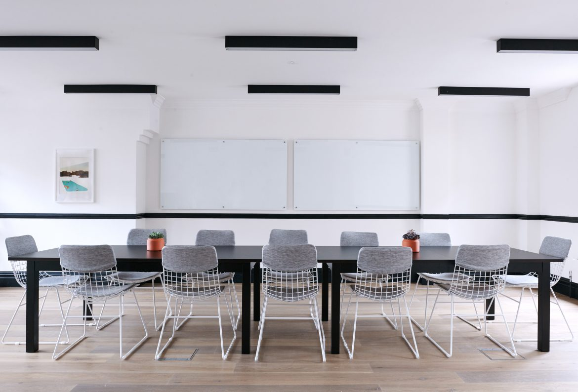 Sales techniques - ways to improve. Image of empty boardroom table