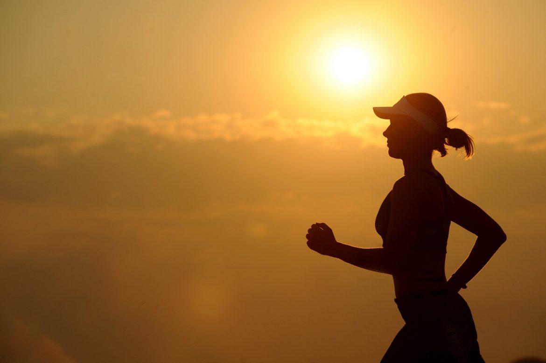 Exercise runner sunset